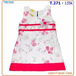 Đầm suông voan hoa xinh xắn cho bé yêu đến trường