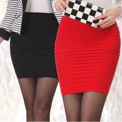 chân váy nữ dáng body ôm thân gợi cảm  thiết kế xếp li trẻ trung