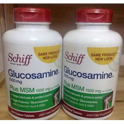 Schiff ® Glucosamine 1500mg plus MSM + Joint Fluid. Hộp 200 viên