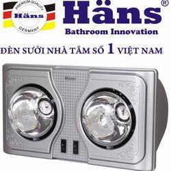 Đèn sưởi nhà tắm Hans 2 bóng H2B-HW