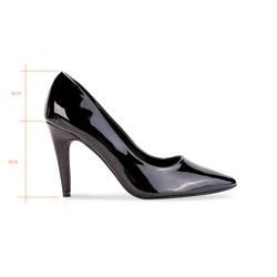 Giày cao gót 9cm bít mũi da bóng TX3016