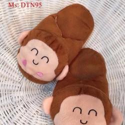 Dép mang trong nhà thú bông hình con khỉ ngộ nghĩnh DTN95