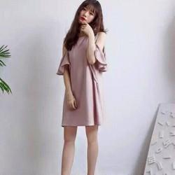 Đầm suông rớt vai dịu dàng cực đẹp Hellen Dress
