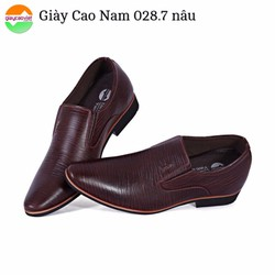 Giày cao nam Da Sần GV028 nâu
