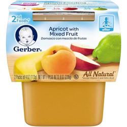 Trái cây nghiền Gerber táo,chuối,đào,lê