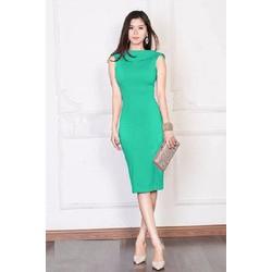 Đầm body cổ lật