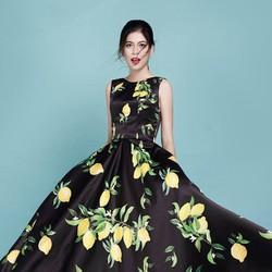 Đầm Xòe Vintage Hoa Chanh Cao Cấp
