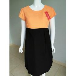 Đầm bầu công sở thiết kê 2 màu