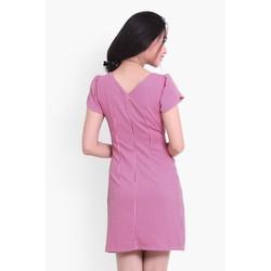 Đầm caro thắt nơ eo