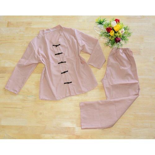 Set bộ đồ Lam viếng chùa
