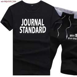 Bộ đồ thể thao nam chữ Journal phong cách năng động BQAN39