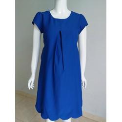 Đầm bầu thiết kế màu xanh coban - ảnh thật