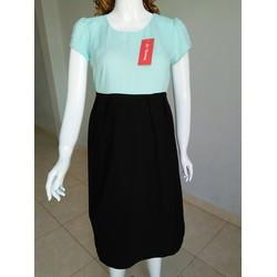 Đầm bầu công sở thiết kê - xanh ngọc