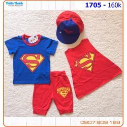 Set siêu nhân 4 món cho anh chàng siêu nhân nhí