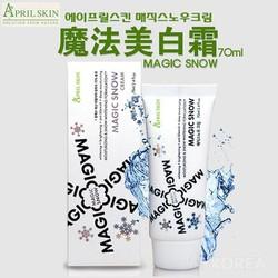 Kem Dưỡng Trắng Da Che Khuyết Điểm April Skin Magic Snow Cream