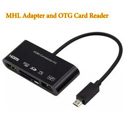 Cáp HDMI Kit OTG Card Reader cho Điện thoại Galaxy S3 S4 Note 2 Note 3