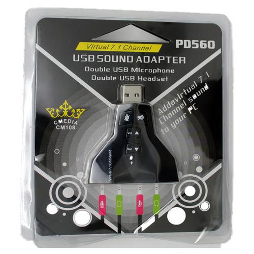 USB Sound màu đen -TM shop