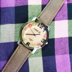 Hình thật - Đồng hồ nữ thời trang dây nâu