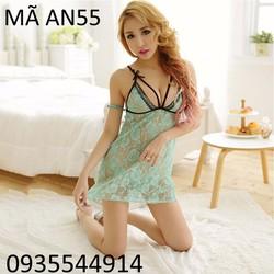Váy ngủ phối ren sexy Hàn Quốc AN55