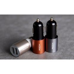 Sạc Xe Hơi Rock 2 Cổng USB 2.1A bảo hành 1 năm