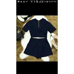 set áo quần croptop