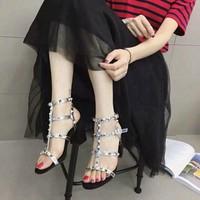 Hàng cao cấp loại I - Giày cao gót đế vuông 7cm