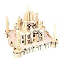 Bộ đồ chơi lắp ghép gỗ mô hình đền thờ Tai Maha Ân Độ- GP210