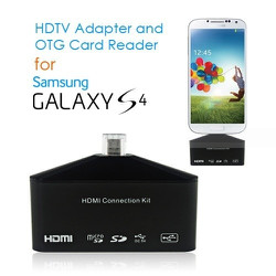 Đầu HDMI Kit OTG Card Reader cho Galaxy S3 S4 Note2