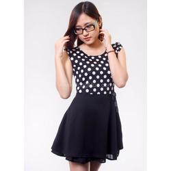 Đầm xòe chấm bi thời trang ddp08063