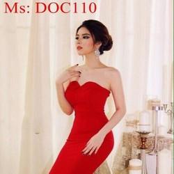 Đầm body dự tiệc cúp ngực đỏ sang trọng nổi bật DOC110