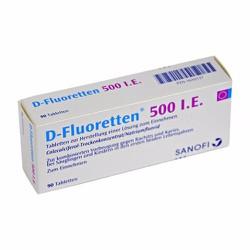 D-Fluoretten 500 ie 90 viên của Đức