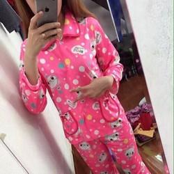 Đồ bộ mặc nhà dài tay pyjama hình chú gà con dễ thương NN459