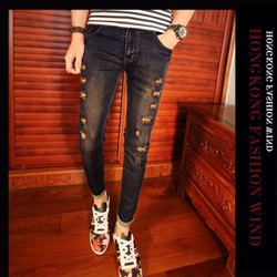 Mã số: MM1050- Quần jeans nam trẻ trung cá tính