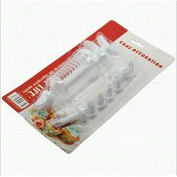 set đui bơm nhựa bắt kem gồm 1 ống bơm nhựa và 7 đui