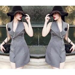 Đầm suông sát nách giả vest cực độc - AV5026
