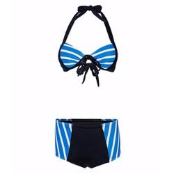 Bộ đồ bơi nữ - Đồ tắm - Bikini 2 mảnh chéo xanh TZID43573