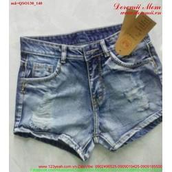 Quần short jean nữ rách bụi sành điệu xmQSO130