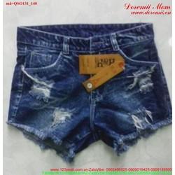 Quần short jean nữ rách bụi sành điệu xmQSO131