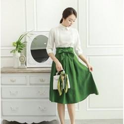 váy nữ xếp ly thời trang vintage
