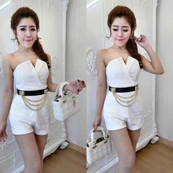 Jumpsuit short cúp ngực TH029