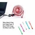 Quạt Lồng Sắt USB Cỡ To Tặng 2 Đèn USB
