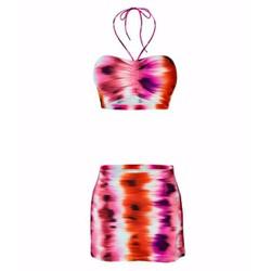 Bộ đồ bơi nữ - Đồ tắm - Bikini LAN HẠNH phối váy hè 22005 TZID44291