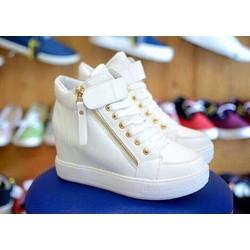 [Greenlife Shop] Giày Boot dây kéo trắng