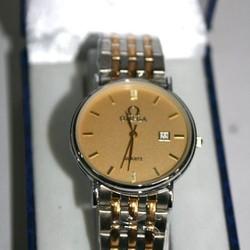 Đồng hồ inox nam Ome mặt vàng sang trọng DHDI74
