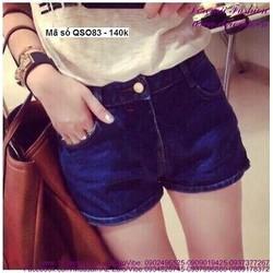 Quần short jean nữ lưng cao đơn giản sành điệu hhQSO83