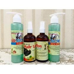 Combo dầu gội và dưỡng chất mọc tóc từ tinh dầu bưởi