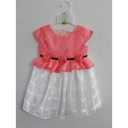 [HÀNG THIẾT KẾ] Đầm ren cao cấp đính nơ eo hồng
