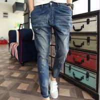 Quần jeans họa tiết