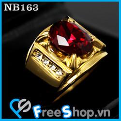Nhẫn nam đá đỏ móng rồng - BH vĩnh viễn ko đen