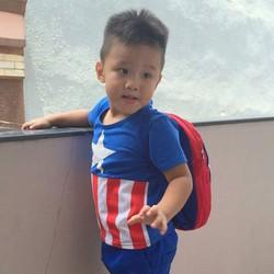Bộ Captain America kèm TẶNG ba lô cho bé đến trường